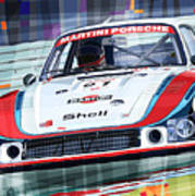 Porsche 935 Coupe Moby Dick Martini Racing Team Art Print by Yuriy  Shevchuk