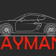 Porsche Cayman Phone Case Art Print