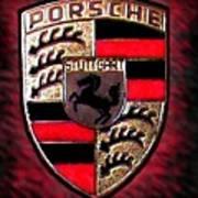 Porsche Emblem Art Print