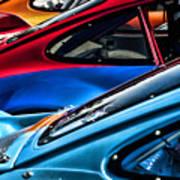 Porsche Fins Art Print