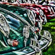 Porsche Row Print by Barry C Donovan