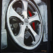 Porsche Techart Wheel Art Print