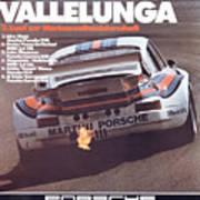 Porsche Vallelunga Vintage Racing Poster Art Print