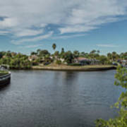 Port Charlotte Adhenry Waterway From Midway Art Print