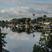 Port Charlotte Elkham Waterway From Tamiami Art Print