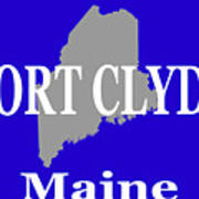 Port Clyde Maine State City And Town Pride  Art Print