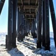 Port Hueneme Pier - Waves Art Print