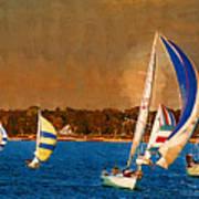 Port Huron Sailboat Race Art Print