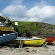 Port Isaac Boats Art Print