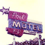 Port Motel Art Print