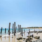 Port Noarlunga Pylons Art Print