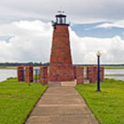 Port Of Kissimmee Lighthouse In Central Florida Art Print
