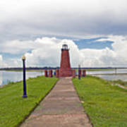 Port Of Kissimmee Lighthouse On Lake Tohopekaliga In Central Florida Art Print