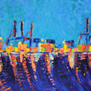 Port Of Malaga Art Print