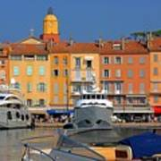 Port Of Saint-tropez In France Art Print by Giancarlo Liguori