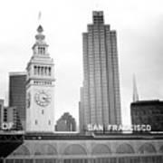 Port Of San Francisco Black And White- Art By Linda Woods Art Print