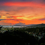 Port Of Spain Sunset Art Print