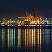 Port Of Vancouver In British Columbia Canada Art Print