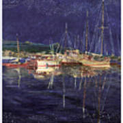 Marina Evening Reflections Art Print