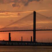 Port Savannah Sunset Art Print