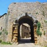 Porta All' Arco Volterra Art Print