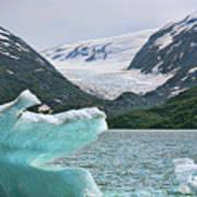 Porter Glacier Alaska  Art Print