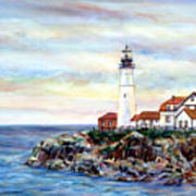 Portland Head Light In Maine Art Print