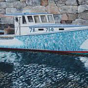 Portland Lobster Boat Art Print