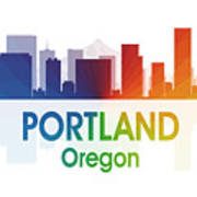Portland Or Art Print