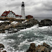 Portlandhead Lighthouse Art Print