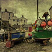 Portloe Boats  Art Print