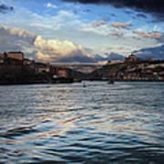 Porto And Vila Nova De Gaia River View Art Print