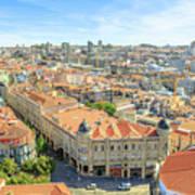 Porto Historic Center Aerial Art Print
