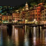 Portofino Bay By Night II - Notte Sulla Baia Di Portofino II Art Print