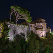 Portofino Bay By Night V - Notte Al Castello Art Print