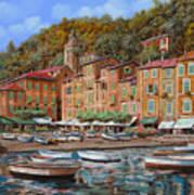 Portofino-la Piazzetta E Le Barche Art Print