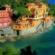 Portofino Park Bay Art Print