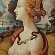 Portrait De Femme Dit De Simonetta Vespucci Art Print
