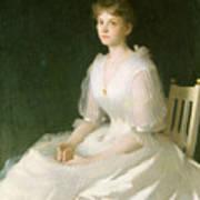 Portrait In White Art Print