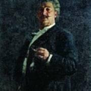 Portrait Mo Mikeshin 1888 Ilya Repin Art Print