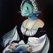 Portrait Of A Gentlefisher Art Print