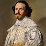 Portrait Of A Gentleman In White Art Print
