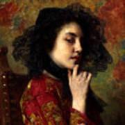 Portrait Of A Georgian Princess Art Print
