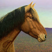 Portrait Of A Horse Art Print by James W Johnson