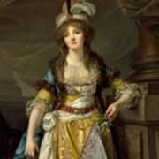 Portrait Of A Lady In Turkish Fancy Dress Art Print