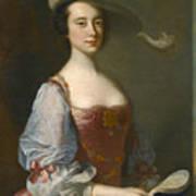 Portrait Of A Lady In Van Dyck Dress Art Print