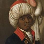 Portrait Of A Man Wearing A Turban Art Print