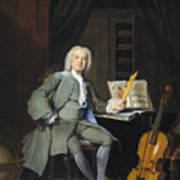 Portrait Of A Member Of The Van Der Mersch Family, 1736 Art Print