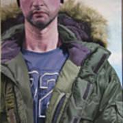 Portrait Of A Mountain Walker. Art Print