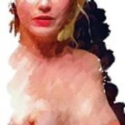 Portrait Of A Naked Lady Art Print